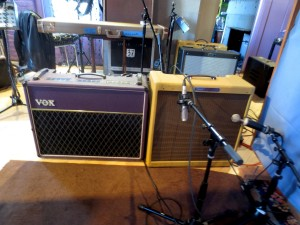 Brian Boggess Recording Session Amps Vox Bassman